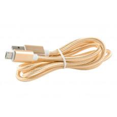 Cablu Omega MicroUSB/USB2.0, Gold