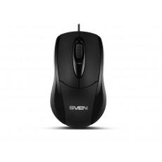 Mouse Sven RX-110, Black, USB+PS/2