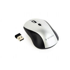 Mouse Gembird MUSW-4B-02-BS, Black/Silver, Радио
