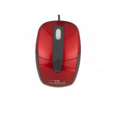 Mouse Titanum TM108R, Black/Red, USB