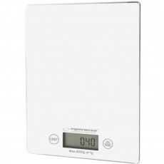 Kitchen Scale ESPERANZA LEMON EKS002W White, Touch buttons, Maximum capacity: 5000g, Division: 1g, Four units of measure: g /lb/oz/kg, Tare Function, Overload indicator, Low battery indicator, Power: 1xCR2032 lithium battery