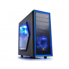 Carcasă Deepcool TESSERACT SW, Black/Blue (ATX)