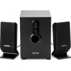 Sistem audio 2.1 Spacer RMS3Wx2, 11 W, Black
