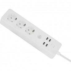 Prelungitor WiFi Tellur, 3 porturi, 4*USB 4A, 2200W, 10A, 1.8m