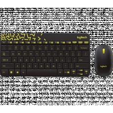 Set Logitech Combo MK240 Black/Chartreuse Yellow, USB (MK240)
