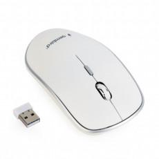 Mouse Gembird MUSW-4B-01-W, White, USB