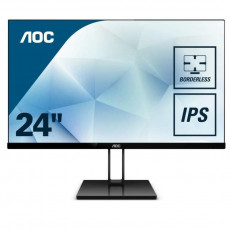 "Monitor 23,8 "" AOC 24V2Q, Black (IPS, 1920x1080, 5 ms, 76 Hz)"