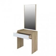 Masă de toaletă Neman Leonardo МН-026-13 (80 cm), Дуб сонома / Белый полуглянец