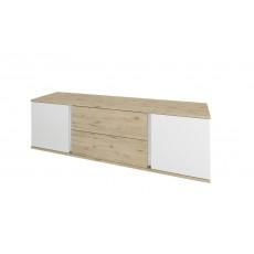 Comoda TV Sokme ГЕРДА 2Д2Ш (150.1 cm), Дуб велингтон / Белый