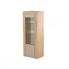 Dulap cu vitrină KMK London 0467.21 (52.5 cm), Дуб сонома / Капучино