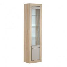 Dulap cu vitrină KMK London 0467.6 (52.5 cm), Дуб сонома
