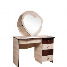 Masă de toaletă KMK 0398 (150 cm), Дуб шамони светл / Каштан