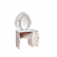 Masă de toaletă KMK Melani 1 0434.10-01 (113.5 cm), Белый / Патина золото