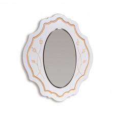 Oglinda de perete КМК Melani 2 0434.5-02 (97 cm), Белый / Патина золото