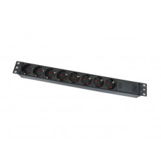 """19"""" 1U power socket, PDU-GM0009, 8 ports,with switcher and Master overload 16A, 1.8M, APC Electronic"""