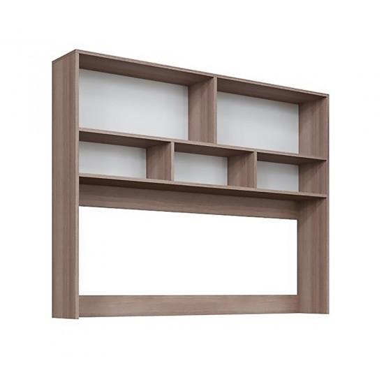 Стол компьютерный SV - Мебель №10 (Надстройка), Ясень шимо тёмный
