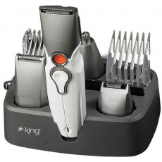 Машинка для стрижки волос King K 066, White/Gray