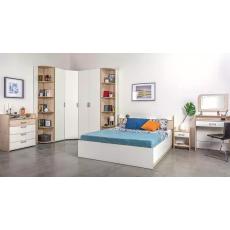 Set dormitor Mobi Vesta, Гаскон пайн светлый/Белый шагрень