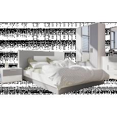 Set dormitor Mobi Loki, Белый премиум/Серый Шифер