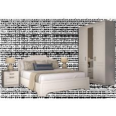 Set dormitor Mobi Liverpool 2, Белый/Ясень ваниль
