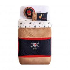 Lenjerie de pat pentru copii Cilek Pirate Hook 90 x 100 cm cu pernă decorativă