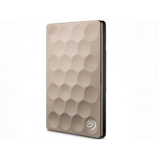 "2,5"" Hard Disk (HDD) extern 1.0 TB Seagate Backup Plus Ultra Silm Portable, Gold (USB 3.0) (STEH1000201)"