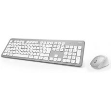 Set Hama KMW-700 Silver/White, USB (R1182676)
