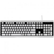 Tastatură Hama Covo White/Black, USB (R1173000)