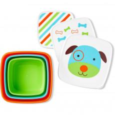 Set pentru pranz Skip Hop Zoo Catel 3 cutii