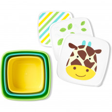 Set pentru pranz Skip Hop Zoo Girafa 3 cutii