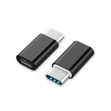 Adaptor Cablexpert A-USB2-CMmF-01 MicroUSB/Type-C, Black