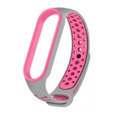 Curelușă Xiaomi Mi Band 5, Gray/Pink