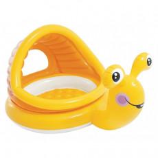 Piscină pentru copii Intex Lazy Snail 57124, 145 X 102 X 74 cm, 53 L