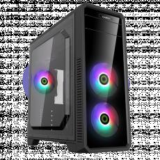 Carcasă Gamemax G561-FRGB, Black (ATX)