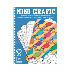 Djeco DJ05382 - Joc de societate - MINI GRAFIC - Animal colouring pictures