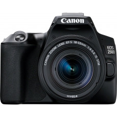Aparat foto Canon EOS 250D Black, 18-55 IS STM
