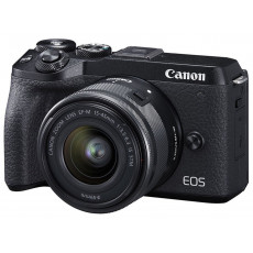 Aparat foto Canon EOS M6 II, 15-45 IS STM + electronic viewfinder EVF-DC2