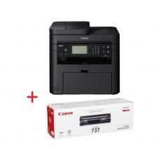 МФУ Canon i-Sensys MF237W + Kit (CE283A x 2pcs), Black