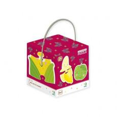 Dodo Toys Puzzle DP300155 - PUZZLE 2-3-4 ELEMENTE - FRUCTE SI LEGUME