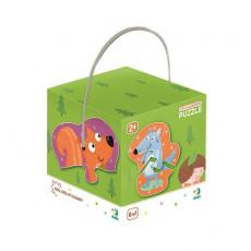 Dodo Toys Puzzle DP300195 - PUZZLE 2-3-4 ELEMENTE - ANIMALUTE DE PADURE