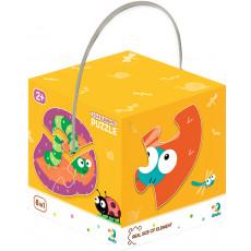 """Dodo Toys Puzzle DP300253 - PUZZLE 2-3-4 ELEMENTE """"INSECTE"""""""