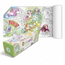 """Dodo Toys Puzzle DP300327 - PLANSA DE COLORAT DODO """"ZOO"""""""