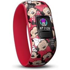 Ceas cu GPS pentru copii Garmin Vívofit Jr. 2 - Minnie Mouse, Red