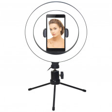 Lampa circulara Vakoss LD-G322K pentru podcast-uri, vloguri, selfie-uri si machiaj