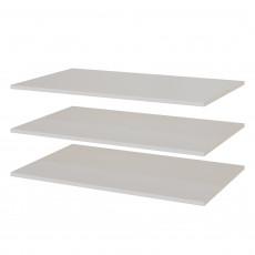 Rafturi pentru garderoba din 2 părți SV - Мебель Тиффани (86,8 cm), Белый