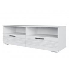 Comoda TV SV - Мебель Тиффани (120 cm), Белый / Белый глянец