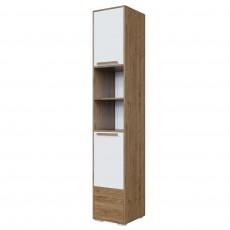 Penal SV - Мебель ГАРВАРД (40 cm) (без фотопечати), Гикори тёмный/Белый