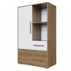 Tumbă SV - Мебель ГАРВАРД (80.1 cm), Гикори тёмный/Белый (без фотопечати)