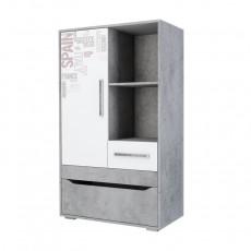 Tumbă SV - Мебель ГРЕЙ (80.1 cm), Цемент светлый / Белый