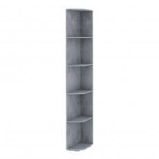 Угловое окончание SV - Мебель ГРЕЙ (25 cm) cu rafturi, Цемент светлый